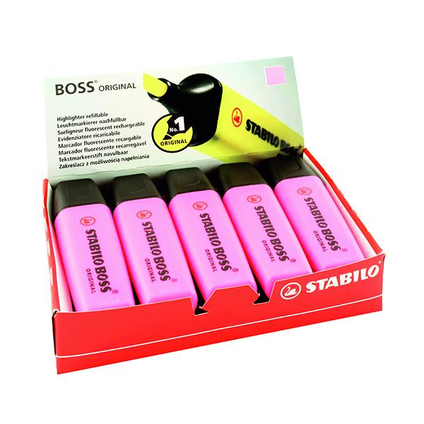 Stabilo Boss Original Pink Highlighter (10 Pack) 70/56/10