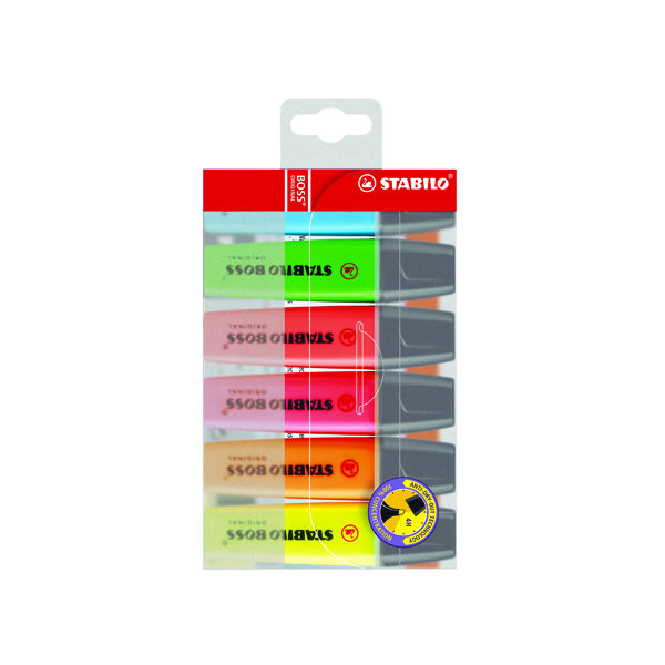 Assorted Stabilo Boss Original Assorted Highlighters (6 Pack) 70/6