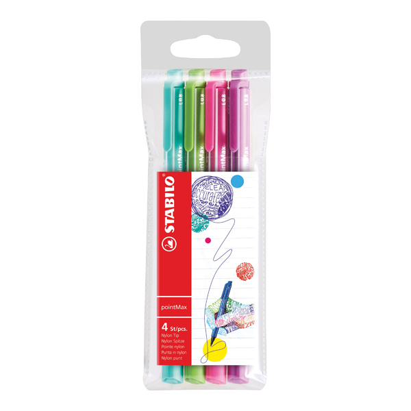 Stabilo Boss Highlighter Pink (10 Pack) FOC Fibre Tip Pen (4 Pack) SS811676