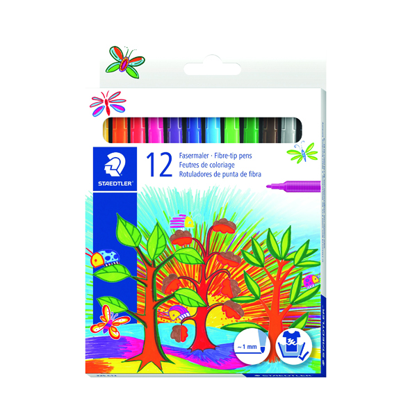 Unspecified Staedtler Noris Fibre Tip Pens Assorted Colours (120 Pack) 325 C12
