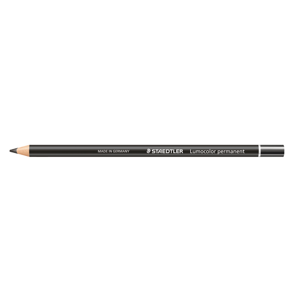 Staedtler Lumocolor Glasochrom Permanent Pencil Black (12 Pack) 108 20-9