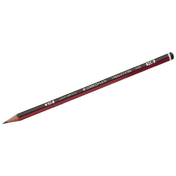 Black Lead Staedtler Tradition 110 HB Pencil (12 Pack) 110-HB