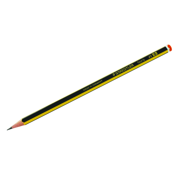 Black Lead Staedtler Noris 120 2B Pencil (12 Pack) 120-2B