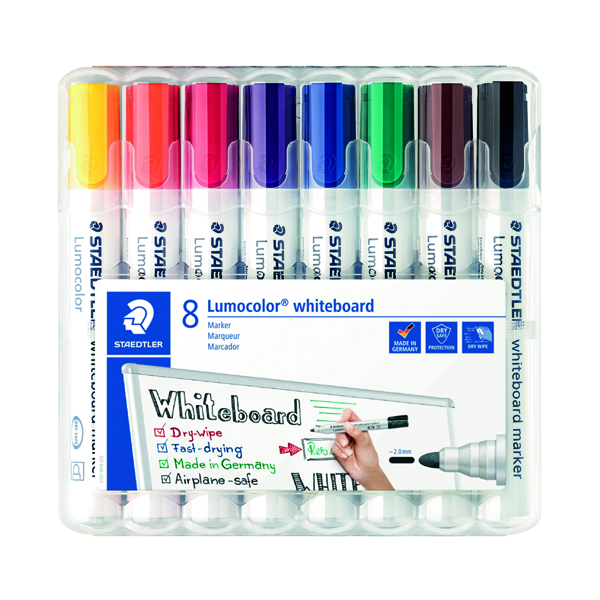 Staedtler Lumocolor 351 Drywipe Marker Assorted (8 Pack) 351 WP8