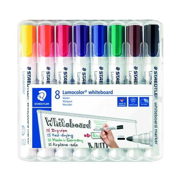 Drywipe Markers Staedtler Lumocolor 351 Drywipe Marker Assorted (8 Pack) 351 WP8
