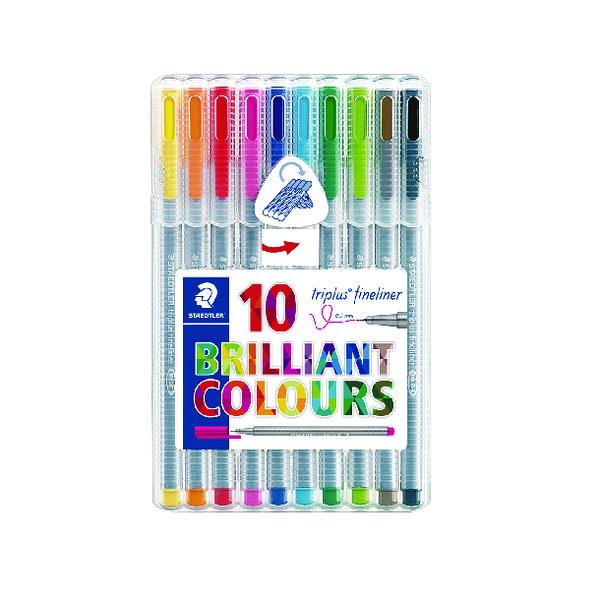 Staedtler Triplus Fineliner Pens Assorted Colours (10 Pack) 334 SB10