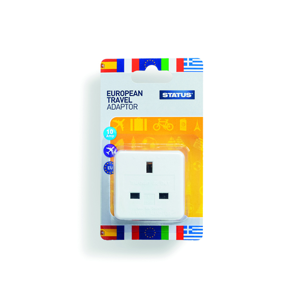 Status European Travel Adaptor Plug (12 Pack) SEUROAB112