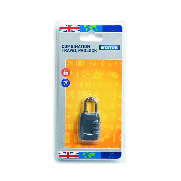 Status Three-Digit Combination Travel Padlock (5 Pack) SCPLOCK1PK5