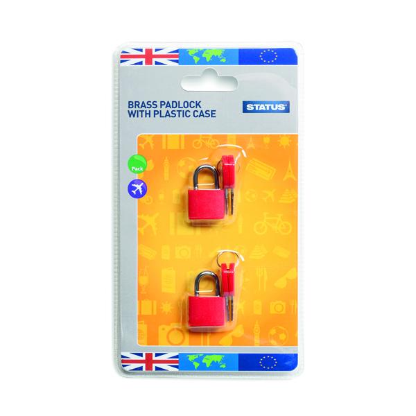 Status Brass Travel Padlock with Key (5 Pack) SPCPLOCK2PK5