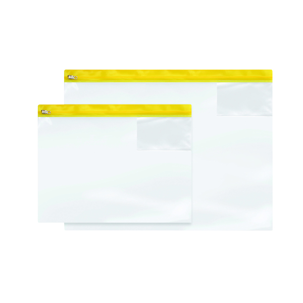 A4 BDS Zip Bag Heavy Duty A4 Assorted (10 Pack) 4714