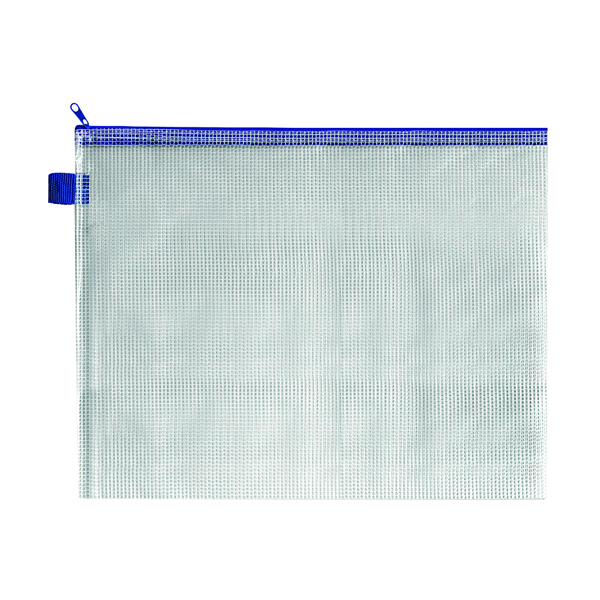 Unspecified BDS Mesh Zip Bag 360x275mm Blue (5 Pack) ZIPPER BLUE