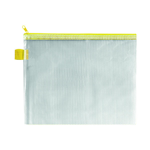 Unspecified BDS Mesh Zip Bag 255x205mm Yellow (5 Pack) ZIPPER YELLOW