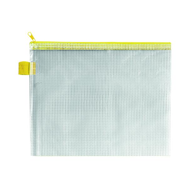BDS Mesh Zip Bag 255x205mm Yellow (5 Pack) ZIPPER YELLOW