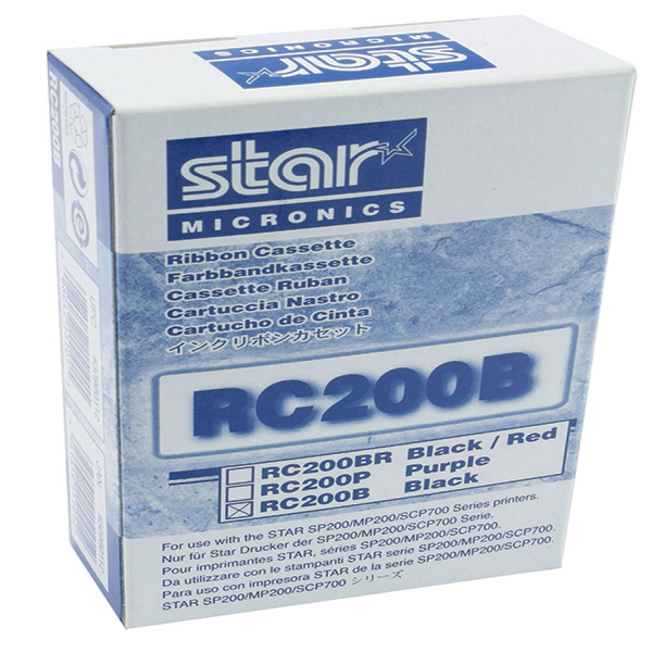Unspecified Star Black RC200B Fabric Ribbon For SP200/500 Dot Matrix Printers 30980112