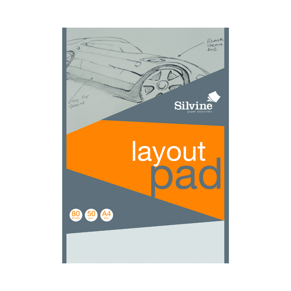 A4 Silvine Layout Pad 80 Sheets A4 A4LP