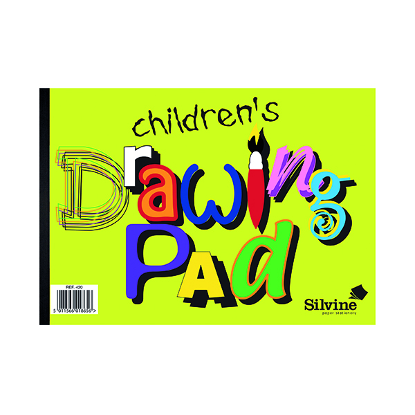 A4 Silvine Children's Drawing Pad (12 Pack) 420
