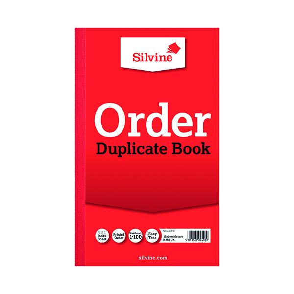 Silvine Duplicate Order Book 210x127mm (6 Pack) 610