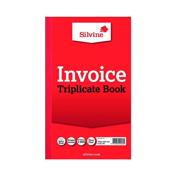 Silvine Duplicate Invoice Book 210x127mm (6 Pack) 611