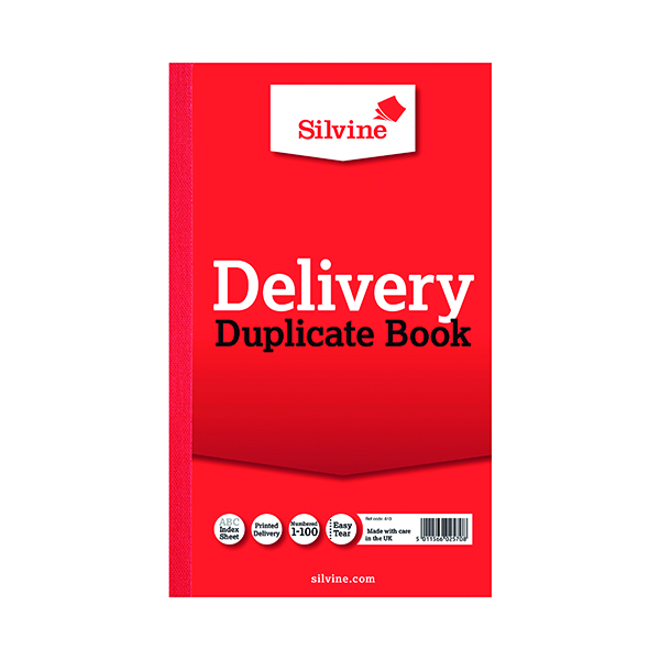 Silvine Duplicate Delivery Book 210x127mm (6 Pack) 613-T