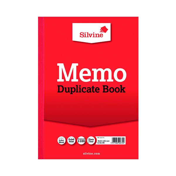 Silvine Duplicate Memo Book A4 (6 Pack) 614-T