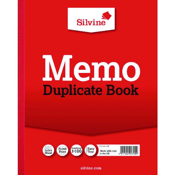 Silvine Duplicate Memo Book 254x203mm (6 Pack) 602-T