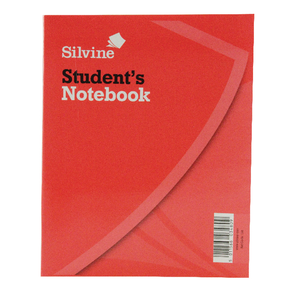 Silvine Exercise Book 200x160mm 40 Leaf Ruled Feint (24 Pack) 144