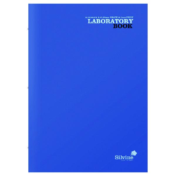 Silvine Laboratory Book A4 2 10 20mm (10 Pack) LABA421020