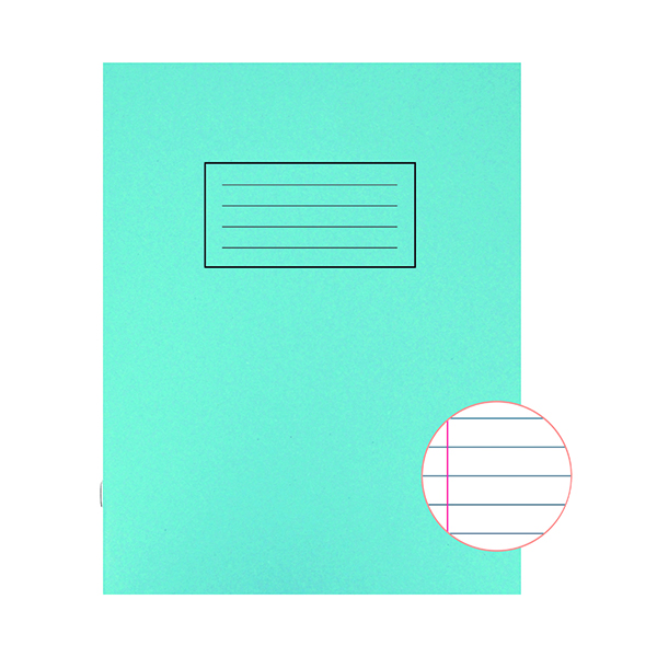 Book Silvine Exercise Book 229 x 178mm Ruled with Margin Blue (10 Pack) EX104