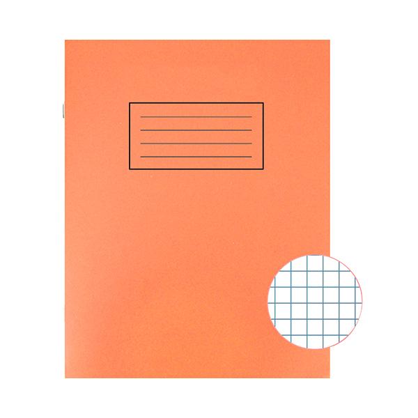 Silvine Exercise Book 229 x 178mm 5mm Squares Orange (10 Pack) EX105