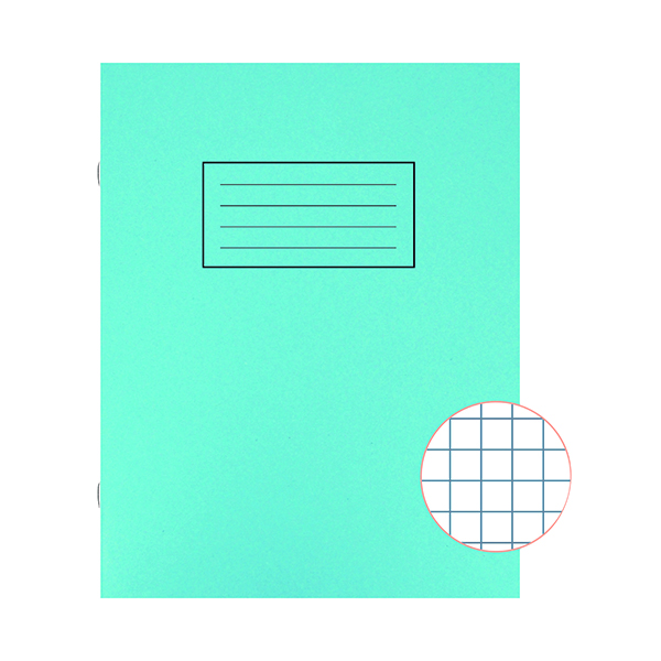Silvine Exercise Book 229 x 178mm 7mm Squares Blue (10 Pack) EX106