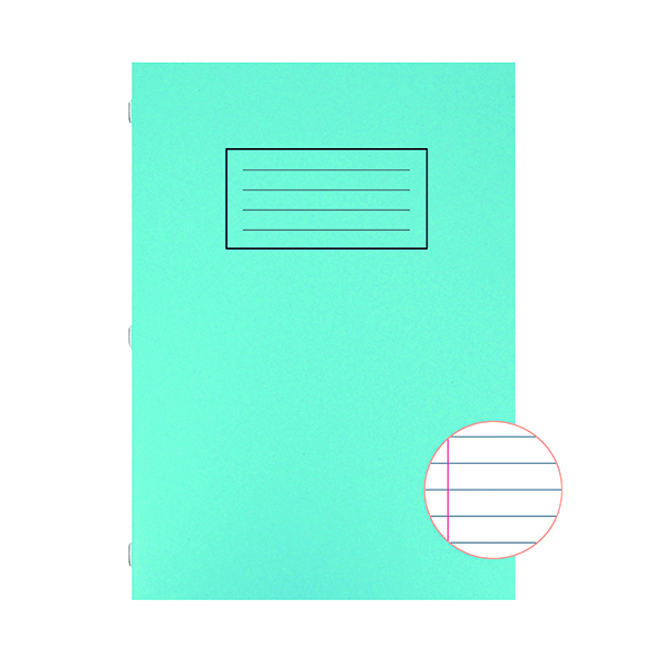 Book Silvine Exercise Book A4 Ruled with Margin Blue (10 Pack) EX108