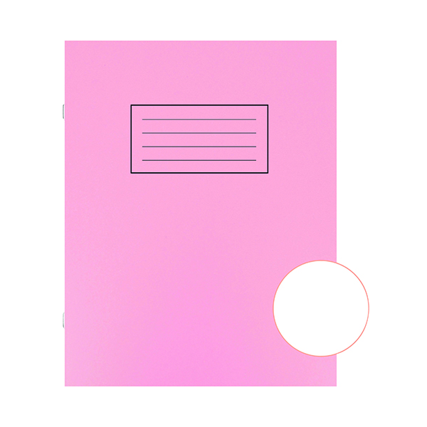 Book Silvine Exercise Book 229 x 178mm Plain Pink (10 Pack) EX112