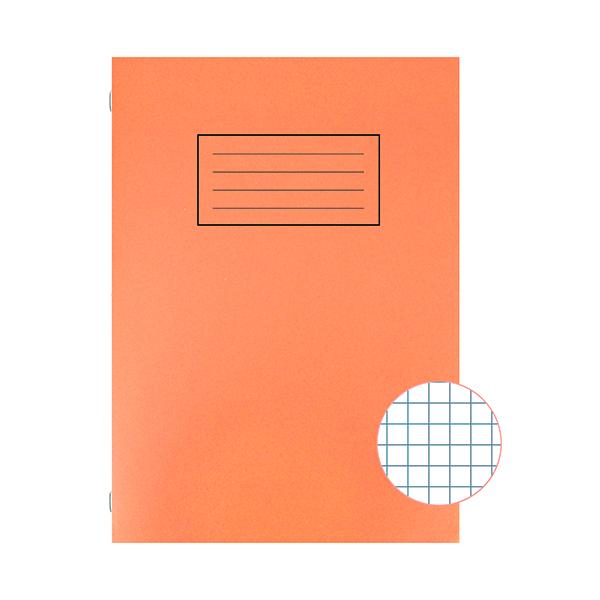 Book Silvine Exercise Book A4 5mm Squares Orange (10 Pack) EX113