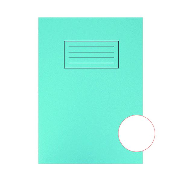 Silvine Exercise Book A4 Plain Blue (10 Pack) EX114