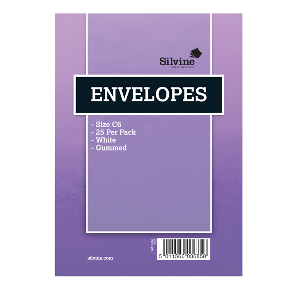 Silvine Branded Medium Envelopes (10 Pack) 302