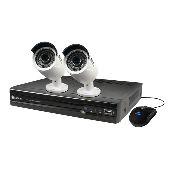 Video (Digital) Swann 4 channel 2 camera 1TB NVR CCTV Kit SWNVK-474002-UK