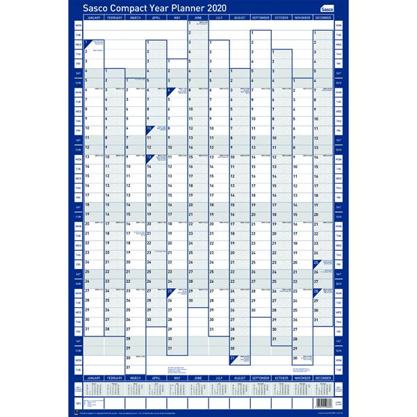Sasco Compact Year Planner Portrait 2020 2410107