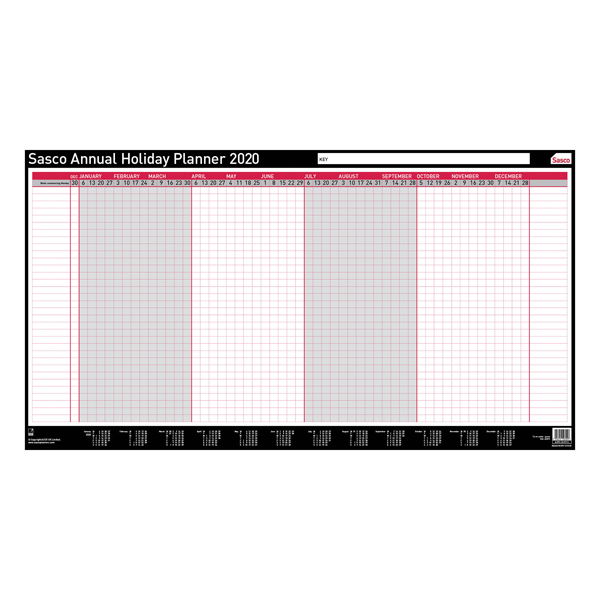 Mounted Sasco Annual Holiday Planner Unmounted 2020 2410116