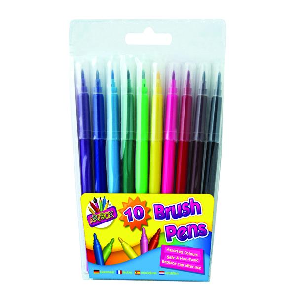 Artbox 10 Quality Brush Fibre Pens (12 Pack) 1093