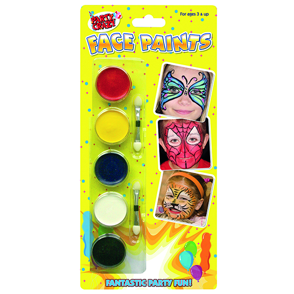 Tallon 5 Colour Face Paints (12Pack) 5111