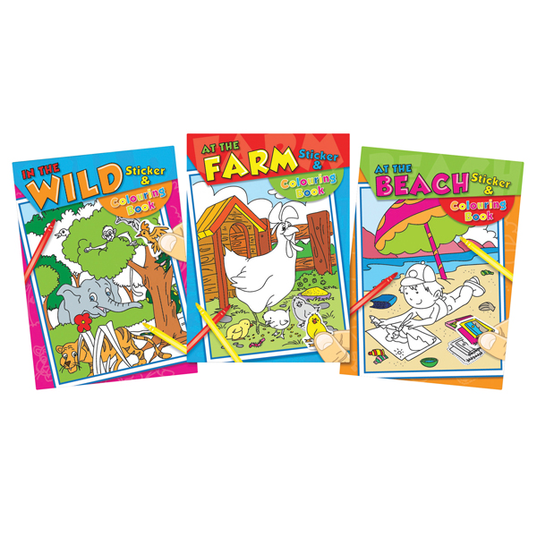 Tallon Colouring and Sticker (12 Pack) 4042