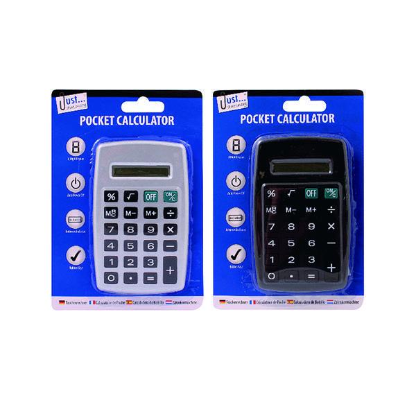 Handheld Calculator Tallon Black/Silver Pocket Calculator (12 Pack) 6178