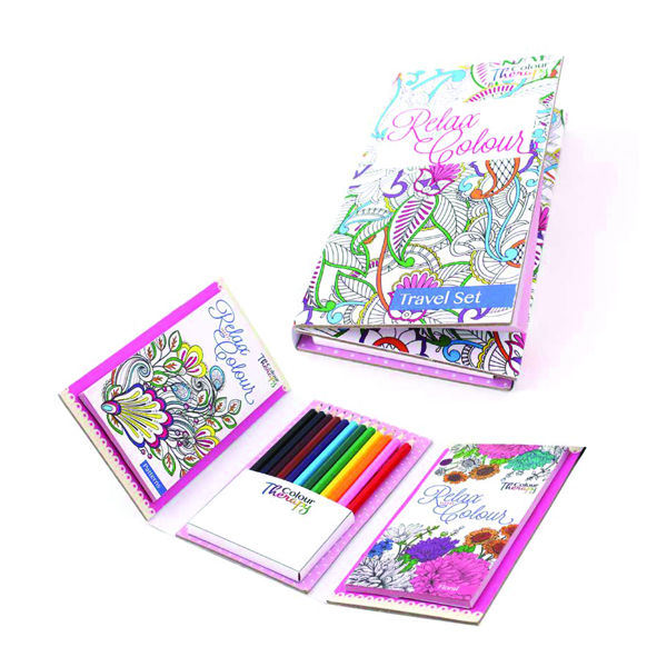 Unspecified Tallon Adult Colouring Book Travel Set (6 Pack) 6844