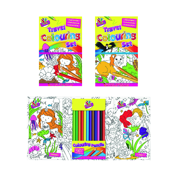 Unspecified Tallon Children's Travel Colouring Set (6 Pack) 6839