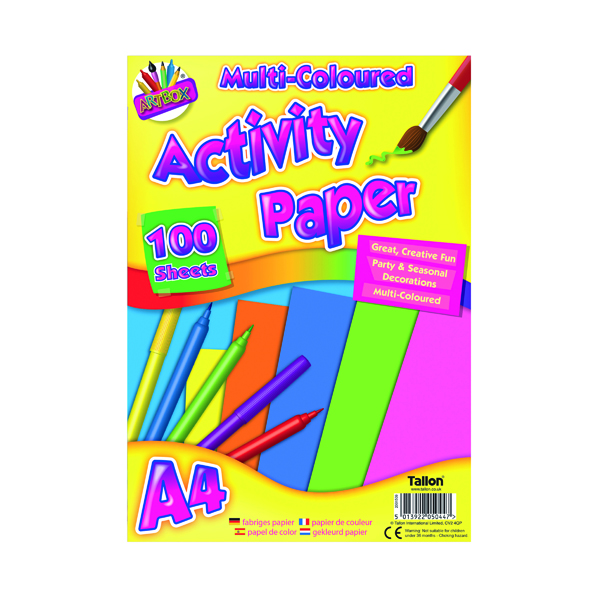 Other Art Box Activity Paper 100 Sheet A4 Assorted (6 Pack) TAL05044