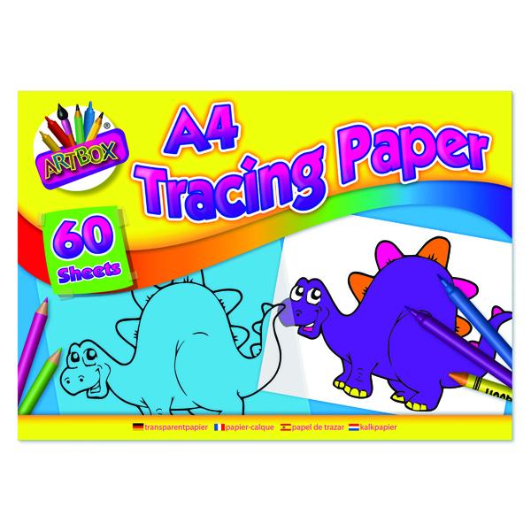 Tracing Art Box Tracing Paper Pad A4 60 Sheets (12 Pack) TAL05069