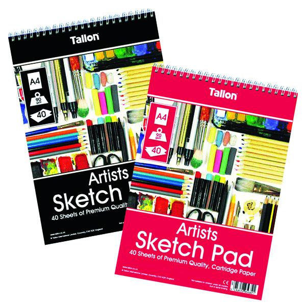 Other Tallon Artist Sketch Pad 40 Sheet A4 (6 Pack) TAL05682