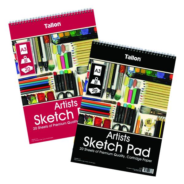Other Tallon Artist Sketch Pad 20 Sheet A3 (6 Pack) TAL05683