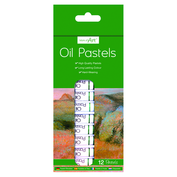 Work of Art High-Quality Oil Pastels (12 Pack) TAL06364