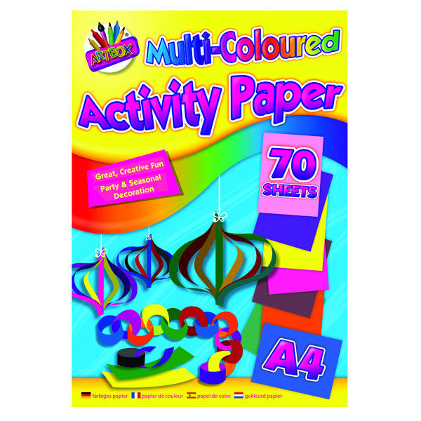 Other Art Box Activity Paper Pad A4 Assorted (12 Pack) TAL06872